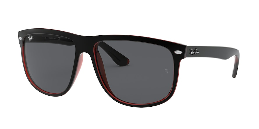 617187 - MATTE BLACK ON TRANSPARENT RED