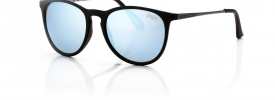 104 matte black / blue mirror lens